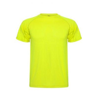 polera dry fit amarillo fluor