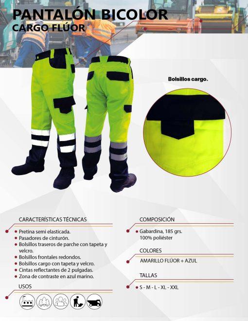 pantalon cargo bicolor