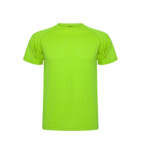 polera dry fit verde limon